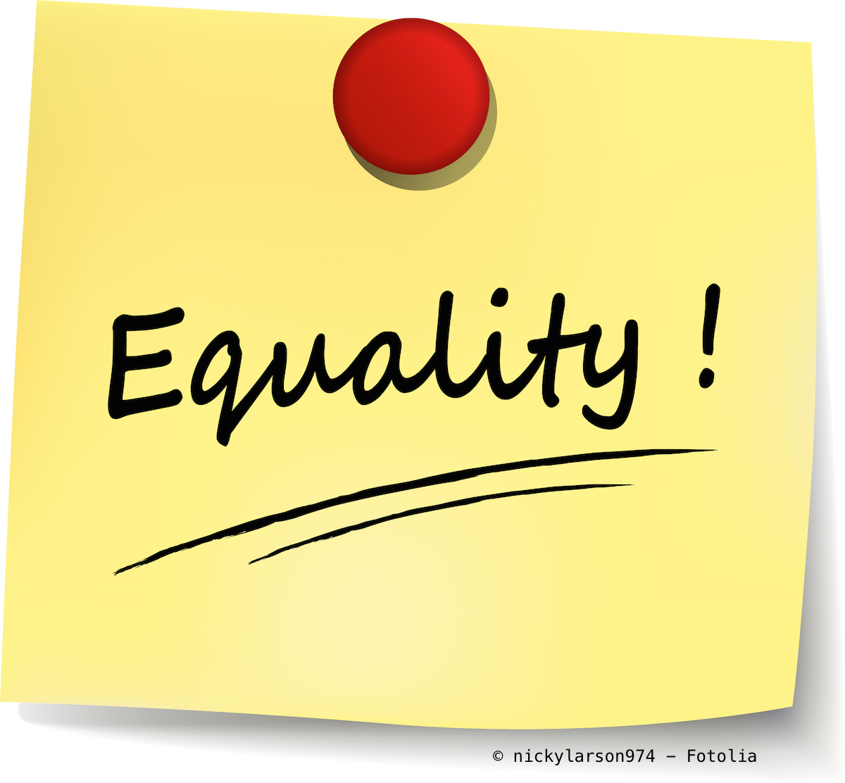 Fotolia_79727384.jpg (equality yellow note)